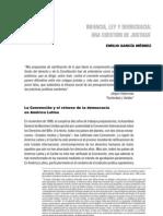 Infancia Ley Democracia Unacuestiondejusticia Emilio Garcia Mendez