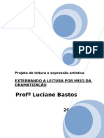 PROJETO DE LEITURA E EXPRESSÃO ARTÍSTICA