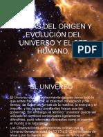 Origen Del Universo y El Ser Humano