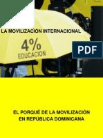 Presentación Campaña del 4% para movilización internacional