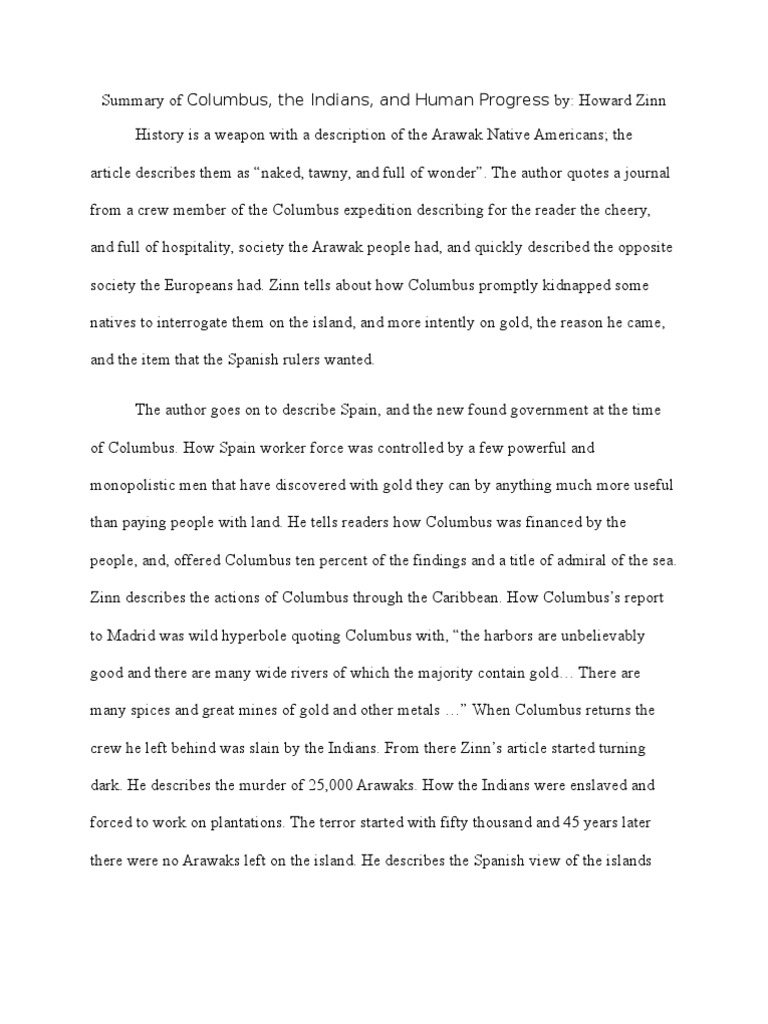 summary of columbus by zinn christopher columbus indigenous summary of columbus by zinn christopher columbus indigenous peoples of the americas
