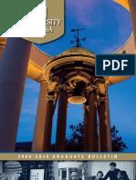 Graduate Bulletin 2008-2010