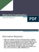 Alternative Response