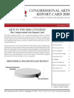Congressional Arts Reports Card 2010
