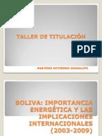 PRESENTACIÓN DE BOLIVIA OCTUBRE