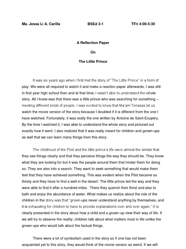 the reflective source essay