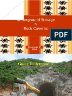 underground storage in rock caverns