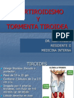 Hipertiroidismo y Tormenta Tiroidea