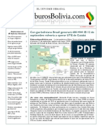 Hidrocarburos Bolivia Informe Semanal Del 29 Agosto Al 04 Septiembre 2011