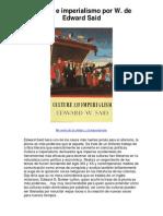 Cultura e imperialismo por W de Edward Said - 5 estrellas reseña del libro