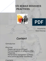 Innovative Human Resource Practices