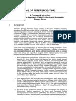 ToR RRE SWAP Framework for Action 2011 (2)