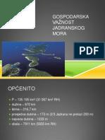 Gospodarska važnost Jadranskog mora