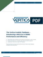 Vertica New Era in Dbms Performance