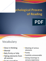 L3 the Psychological Process of Reading