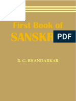 First Book of Sanskrit - RG Bhandarkar