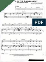 Blame It on the Summer Night (Piano-Voice Score - Original Key a Minor)