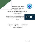Lipidoza hepatica taurine
