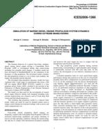 Simulation of Marine Diesel Engine Propulsion System Dynamics During Extreme Maneuvering