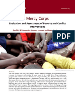 Lessons Learned on Measuring Impact 2011 Mercy Corps