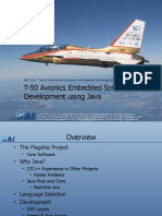 T-50 Avionics Embedded Software Development Using Java