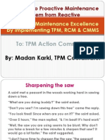 Achieving Maintenance Excellence With TPM, RCM & CMMS