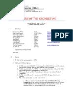 CSC Minutes (September 5)