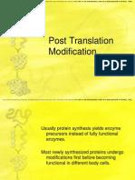 Post Translation Modification