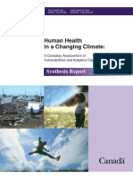 Health Canada Climate Report Synthesis