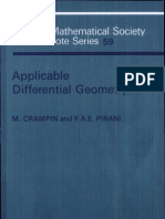 Applicable Differential Geometry London Mathematical Society Lecture Note Series