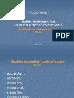 Stadiile dezvoltării psihoafective