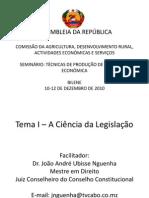 TECNICAS  DE ELABORAÇÃO DE LEGISLAÇÃO