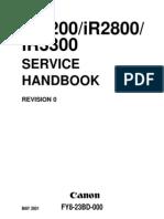 Canon iR2200, iR2800, iR3300 Service Handbook[1]