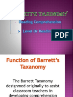 Barretts Taxonomy