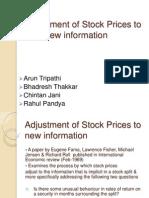 Adjustment of Stock Prices