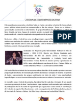 II Festival de Coros Infantis Convite