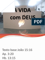 A VIDA COM DEUS