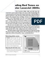 HP 2600n Laser Scanner Mirror Cleaning