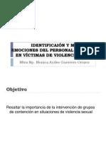 IDENTIFICAIÓN Y MANEJO DE EMOCIONES DEL PERSONAL DE