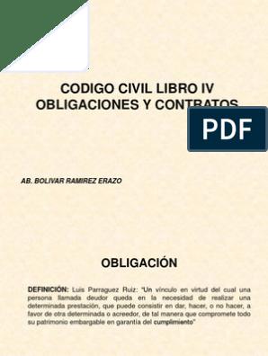 Codigo Civil Cuarto Libro | Pagos | Derecho Civil (Sistema ...