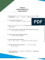 Práctica N°1 Físik 2, Análisis Vectorial