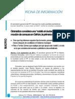 """Granados considera una """"estafa al ciudadano"""" la moción de censura en Griñón, la primera contra el PP"""