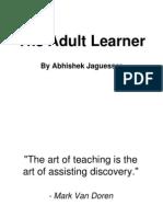 The Adult Learner by Abhishek Jaguessar