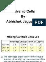 Galvanic Cells by Abhishek Jaguessar