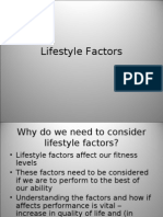 Lifestyle Factors Why Do We Need to Consider Lifestyle