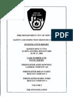 FDNY report on fatal fire, June 17, 2001