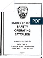 FDNY report on fatal fire, July 20, 1994
