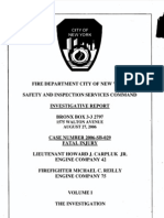 FDNY report on fatal fire, August 27, 2006