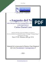 Augusto Del Noce - Carlos Daniel Lasa