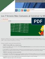 Los 7 Errores Más Comunes al Construir la WBS